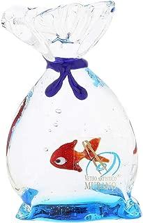 GlassOfVenice Murano Glass Aquarium Bag with Tropical Fish