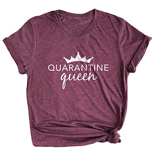 Spunky Pineapple Quarantine Queen Funny Quarantine Life Shirt for Her Premium Unisex Ladies T-Shirt Maroon
