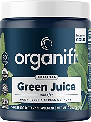 Organifi: Green Juice - Organic Superfood Powder - 30 Day Supply - Organic Vegan Greens - Hydrates and Revitalizes - Support Immune System, Relaxation and Sleep by Organifi