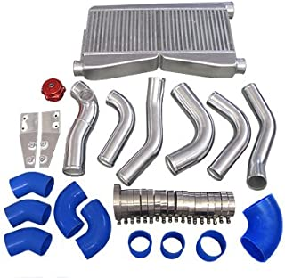 CXRacing Intercooler Piping BOV Kit For 86-92 Supra MK3 LS1 Swap Twin Turbo