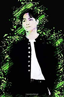 "GOT7 JB: Iridescent Holographic Color Pop Art Member Performing on Stage 100 Page 6 x 9"" Blank Lined Notebook Kpop Journal..."