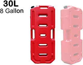 SXMA Fuel Tank Cans Spare 8 Gallon Portable Fuel Oil Petrol Diesel Storage Gas Tank Emergency Backup for Jeep JK Wrangler SUV ATV Car Motorcyc Toyota ect Most Cars (30L, Red)(Pack of 1)