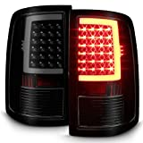 For 2009-18 Dodge Ram 1500 2010-18 2500/3500 Black Smoked LED Tube Tail Lights Lamps Pair Housing Set
