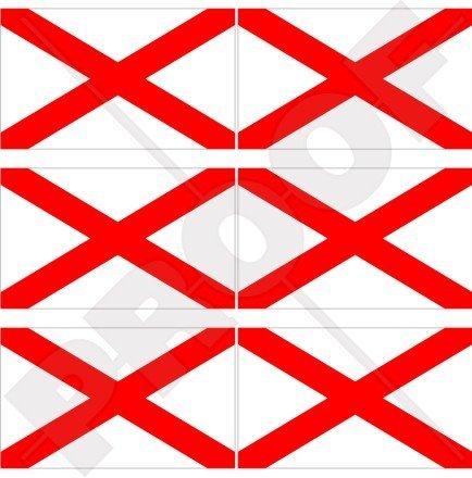 Lot de 6 mini autocollants en vinyle pour téléphone portable Motif drapeau de l'Irlande du Nord 40 mm