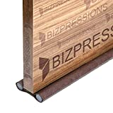 BIZPRESSIONS Door Seal Draught/Draft Guard - Free Size Upto 42 Inch (Pack of 1, Dark Brown)