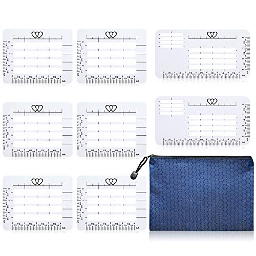 9 Pieces Envelop Addressing Guide Stencil Different Style Envelope Addressing Guide Letter Envelope Addressing Stencil with Zipper Pouch Fits Wide Range of Envelopes, Sewing, Thank You, Card