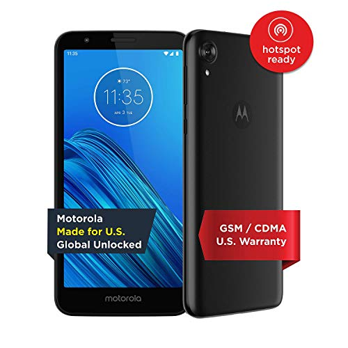 Moto E6 - Unlocked Smartphone - Global Version - 16GB - Starry Black (US Warranty) - Verizon, AT&T, T-Mobile, Sprint, Boost, Cricket, & Metro