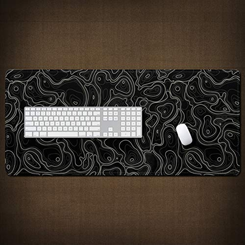 CHUTD Office Desk Pad,Large Gaming Mouse Pad,Geometric Abstract Water-Resistant Mouse Mat for Computer PC Keyboard Geometry 6 31.5' x 15.7'