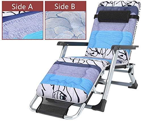 Außenpatio Klappgartenstuhl Wippe Schaukelstuhl Schwerelosigkeit, kann zurückzulehnen, kann das Gewicht 200 kg Träger (Farbe: schwarz Seide Eis pad),Black