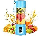 Licuadora portátil, licuadora personal con USB recargable Mini mezclador de jugo de frutas, interruptor magnético seguro Mezclador de frutas eléctrico para una excelente mezcla 380 ml