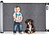 BABYSEATER Baby Gates for Doorways or Stairs - Retractable Safety Gate for Child, Pets,...