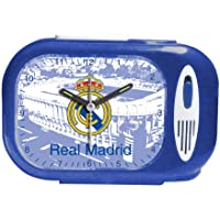 Seva Import DESP. RECT. Himno Real Madrid 706079 Despertador, Unisex, Azul, Talla Única