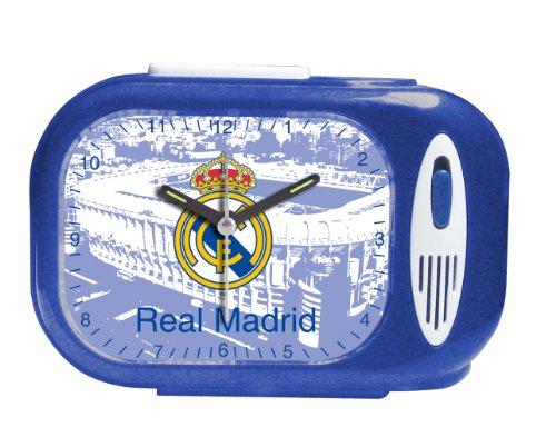 Seva Import DESP. RECT. Himno Real Madrid 706079 Despertador, Unisex, Azul/Blanco, Talla única