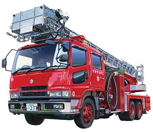 Fire Ladder Truck Otsu Municipal Feuerwehr 1:72 Model Kit Bausatz Aoshima 012079