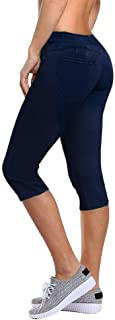 Women's Butt Lift Super Comfy Stretch Denim Capri Jeans Q37374 Indigo 11