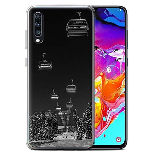 eSwish Phone Case/Cover/Skin/SG-GC/Skiing/Snowboard-Kollektion Ski Ascenseur Samsung Galaxy A70 2019