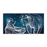 Coloray Pintura acrílica Sala De Estar 140x70cm Vidrio Acrílico Cuadro De Pared Mural Arte - Osos polares