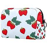 Bolsa cosmética portátil de almacenamiento cosmético, partición ajustable, utilizado para cosméticos de maquillaje, fresa