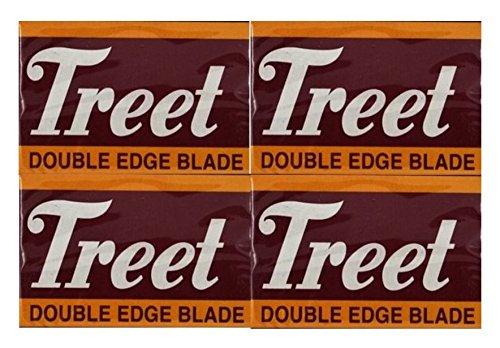 40Treet Carbon Steel Cuchillas de afeitar