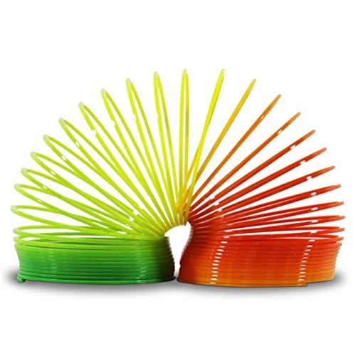 12 x Spirale Regenbogen Treppenläufer Bunt 6,2 cm