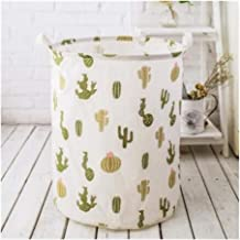 New Flowers Waterproof Laundry Hamper Clothes Storage Baskets Home Decoration Folding Storage Barrel Kids Toy Organizer Bucket (Color : E)