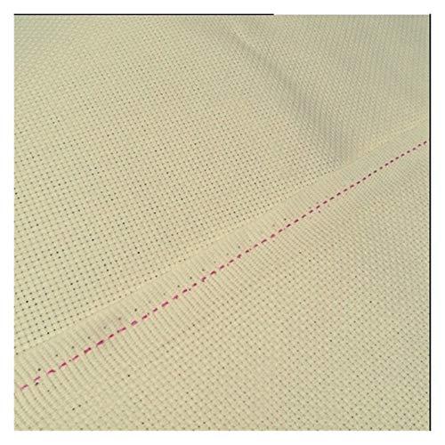 JWGD 100 % Baumwolle, Fadendichte 14, Stick-/Stichstoff, Aida (Farbe: Beige, Größe:...