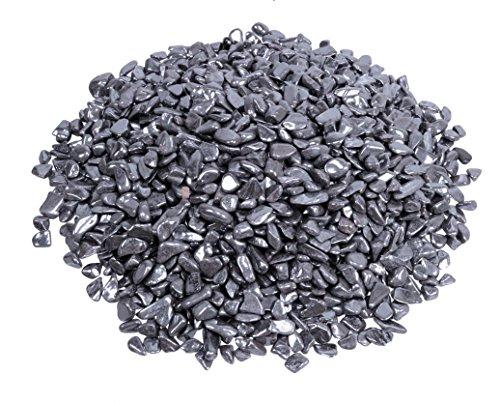 Hämatit Mini Trommelsteine 200 gramm Chips 6-10 mm Durchmesser