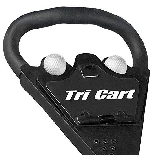 Longridge GOLF CARTS/TROLLEYS TRI CART 3 WHEEL DELUXE TROLLEY, BLACK - 4