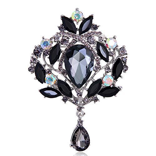 Broche de diamantes de imitación de cristal brillante, todo a juego, ropa, ramillete, joyería, caja de zapatos de cristal, accesorios de bricolaje (T)