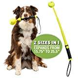 Hyper Pet Throw-N-Go Retractable Compact Tennis Ball Launcher (Portable Ball Thrower for Dogs and Durable Dog Toy that Launches Dog Tennis Balls)[Great Dog Toys to Take on a Trip to the Beach or Park]
