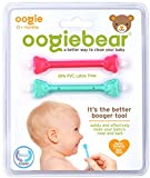 oogiebear - The Safe Baby Nasal Booger and Ear Cleaner - Baby Shower Gift and Registry Essential Snot Removal Tool - Two Pack - Raspberry and Seafoam