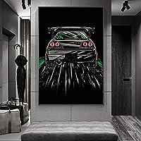 スカイラインウォールアートキャンバス絵画ポスターとプリントリビングルームオフィス装飾絵画家の装飾