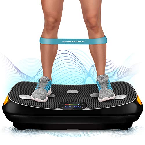 Fair novelty 2020! 4D VP400 vibration plate in curved design + training videos, color touch display, huge surface, smart LED technology