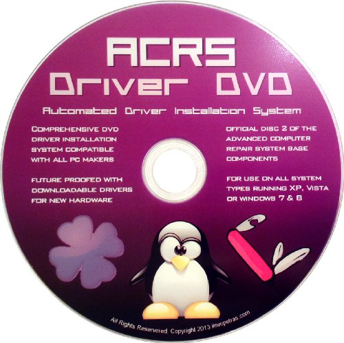 Universal Driver DVD for all PC Makers - Asus, Alien, Acer, Dell, HP, Compaq, Lenevo, IBM, Samsung, Toshiba & More