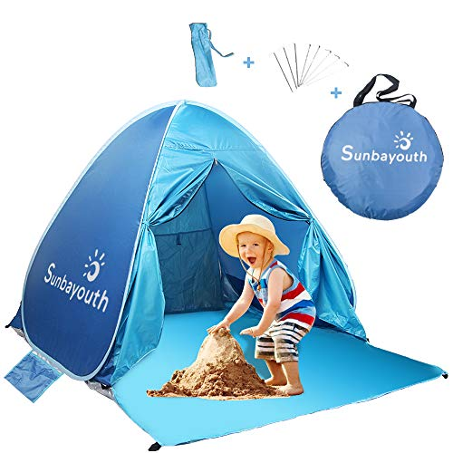 SUNBA YOUTH Beach Tent, Anti UV Beach Shade, Instant...
