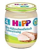 HiPP Bio-Hühnchenfleisch-Zubereitung, 6er Pack (6 x 125 g)