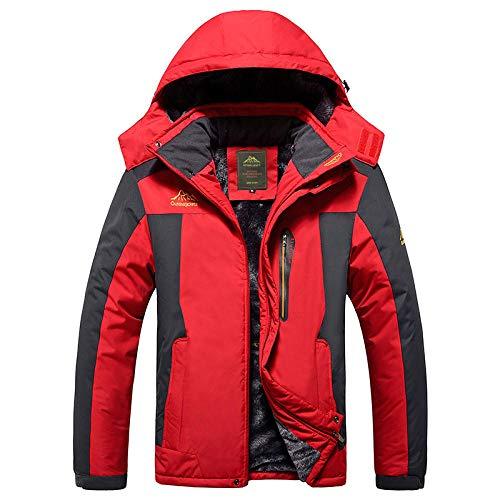 B/H Chaqueta Transpirable,Monos de Invierno, Chaquetas de Exterior, Gruesas y de Gran tamaño-Red_XL #,Cálida Chaqueta de esquí