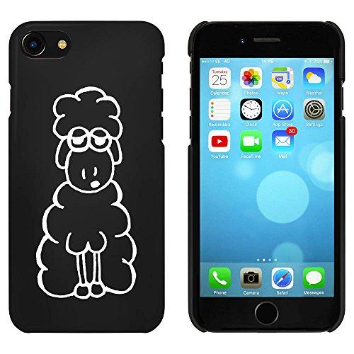Azeeda Schwarz 'Müde Schaf' Hülle für iPhone 7 (MC00059839)