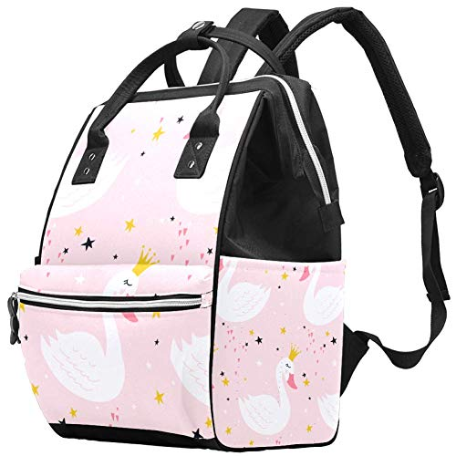 Princess Travel Rucksack Casual Daypack Maternity Nappy Bag Organizer Nursing Bottle Bag