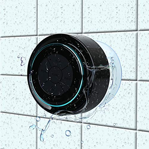 Bluetooth-Duschlautsprecher, Haissky Portable Bluetooth Lautsprecher tragbarer Waterproof Wireless Speaker Wasserdicht mit Saugnapf,Freisprecheinrichtung, integriertes Mikrofon