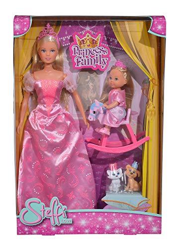 Simba 105733223 Steffi Love Princess Family, Mehrfarbig