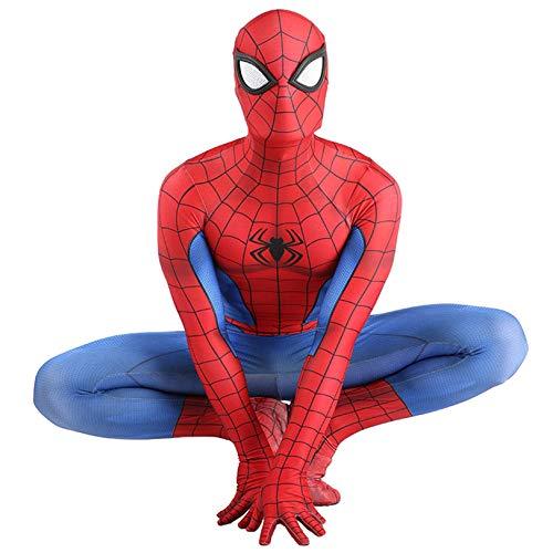 LGYCB PS4 Gioco Spider-Man Cosplay Costume Rosso e Blu Collant, Fan dei Supereroi Fancy Dress Up Film Feste a Tema Abbigliamento di Natale Stage Performance la Tuta,Adults (160~165cm)-Spiderman