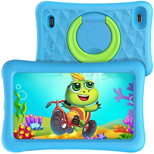 VANKYO MatrixPad Z1 Kids Tablet 7 inch, 32GB ROM, COPPA Certified KIDOZ& Google Play Pre-Installed with Kid-Proof Case, Wi-Fi, Blue Shade, Blue