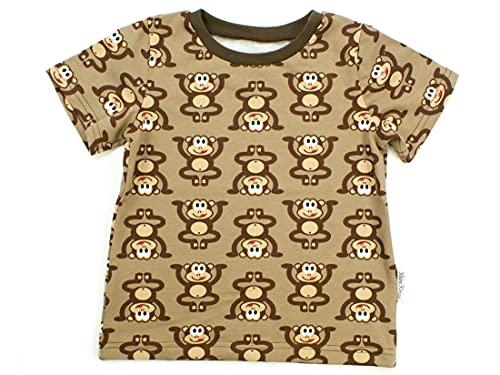 Kleine Könige Baby Kinder T Shirt Jungen · Modell AFFE Äffchen braun, braun · Ökotex 100 Zertifiziert · Größe 122/128