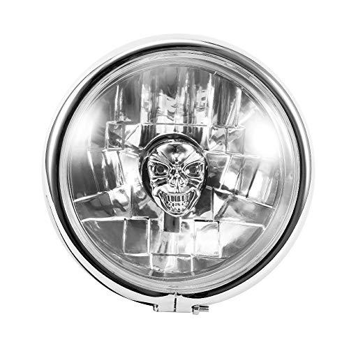 Faros delanteros LED 5.75 pulgadas Motocicleta Retro LED Faros delanteros cromados Ajuste para