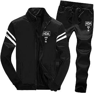 Tracksuit Sets,NRUTUP Mens Shirts Clearance Zipper Leisure Suit Tops Pants Jackets & Coats Clothing Hot