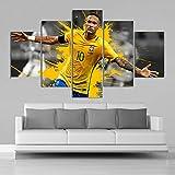 Arter Brasilien Fußball Stars Neymar Poster, alle Leinwand