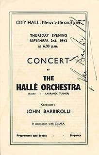 Sir John Barbirolli - Program Signed Circa 1943
