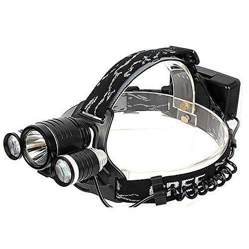 SHRAY lampe frontale casque lumière T6 éblouissement tête torche casque lumière lampe de poche tête, lampe frontale étanche pour la pêche, chasse, lecture, réparation de voiture Sui