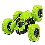 Joy-Jam Juguetes para Niños de 6-10 Años Coche Teledirigido 4x4 Coche RC, 2.4GHz Coche Radiocontrol Truco, Rotación 360° Tractor RC Regalos para Muchachos Adulto Verde
